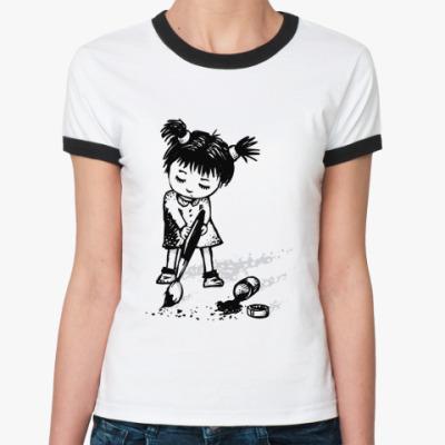 Женская футболка Ringer-T Маленькая художница