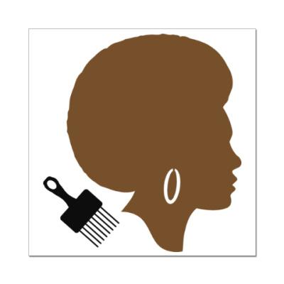 Наклейка (стикер) Afro Lady