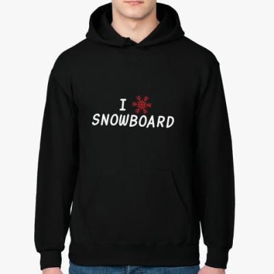 Толстовка худи I snow snowboard
