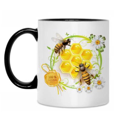 Кружка Пчелы, мед