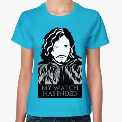 Женская футболка Игра престолов.Джон Сноу
