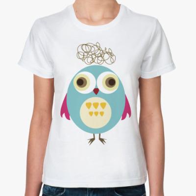 Классическая футболка Funny owl