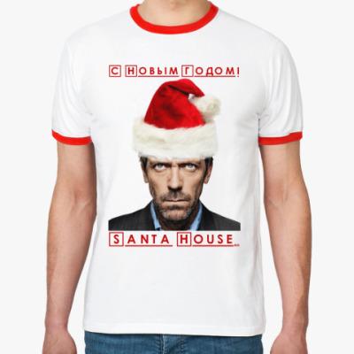 Футболка Ringer-T Santa House
