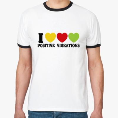 Футболка Ringer-T Люблю позитивные вибрации