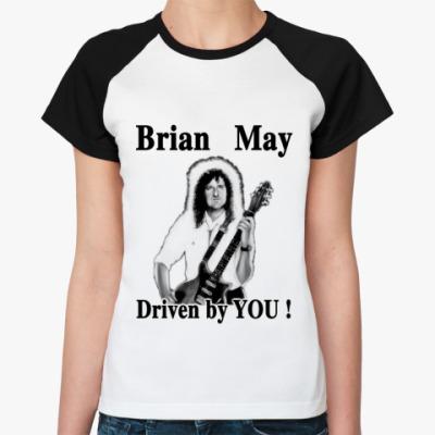 Женская футболка реглан  Brian May