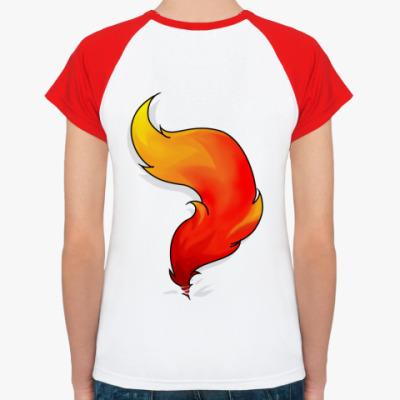 Женская футболка реглан Рыжий хвост