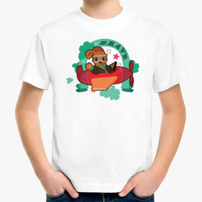 Детская футболка Песик на самолете