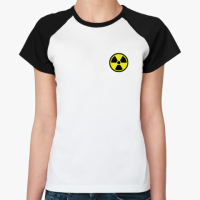 Женская футболка реглан  'Радиация'