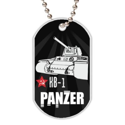 Жетон dog-tag Советский тяжёлый танк КВ-1