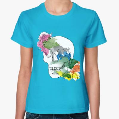 Женская футболка Июньский череп