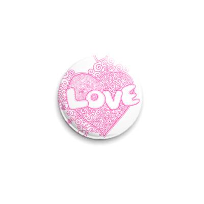 Значок 25мм Love