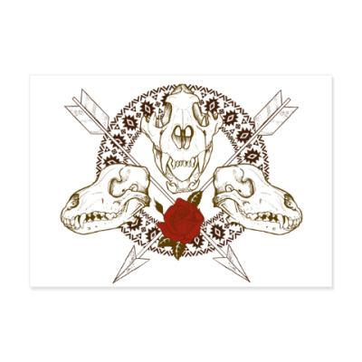 Виниловые наклейки индейские мотивы