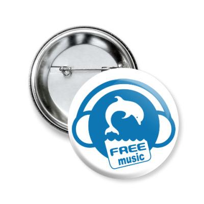 Значок 50мм Free Music