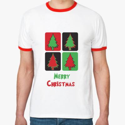 Футболка Ringer-T  Christmas