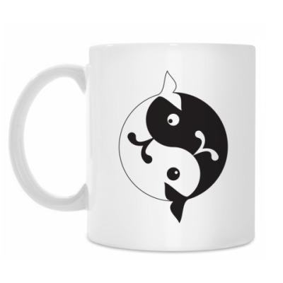 Кружка 'Инь-ян киты'