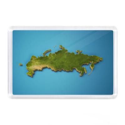 Магнит Россия зеленая