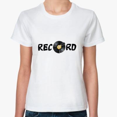 Классическая футболка   Record