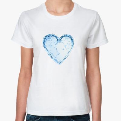 Классическая футболка Water heart