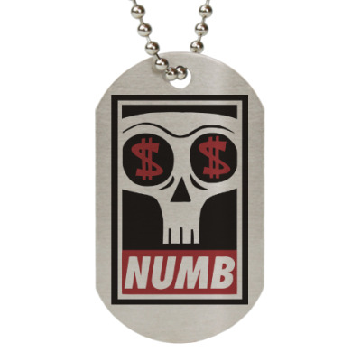 Жетон dog-tag Numb