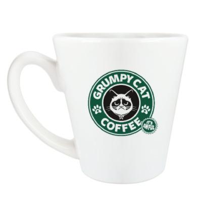 Чашка Латте Grumpy Cat coffee!