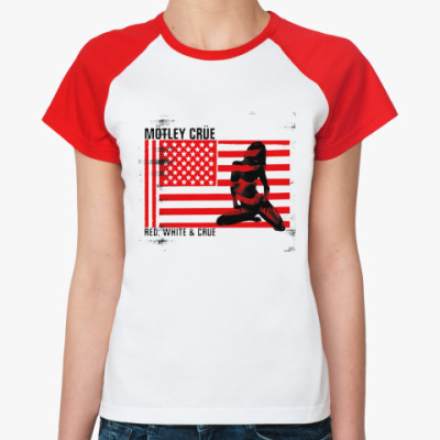 Женская футболка реглан Motley Crue