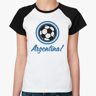 Женская футболка реглан Аргентина