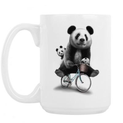 Кружка Панды на велосипеде