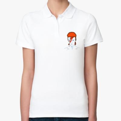 Женская рубашка поло David Bowie