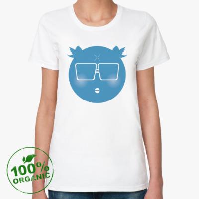 Женская футболка из органик-хлопка Сижу в Твиттере