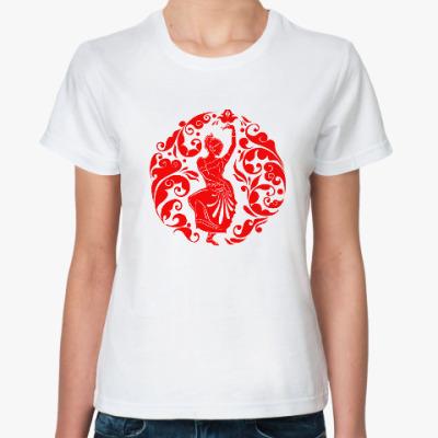 Классическая футболка Русско-индийский узор