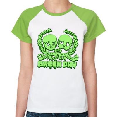 Женская футболка реглан Green Day