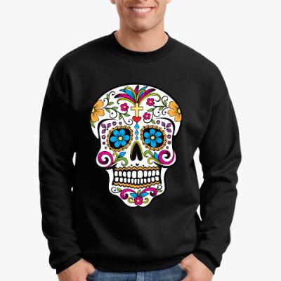 Свитшот Мексиканский череп Calavera