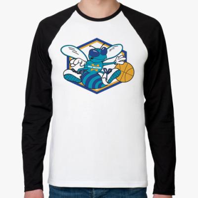 Футболка реглан с длинным рукавом  New Orleans Hornets