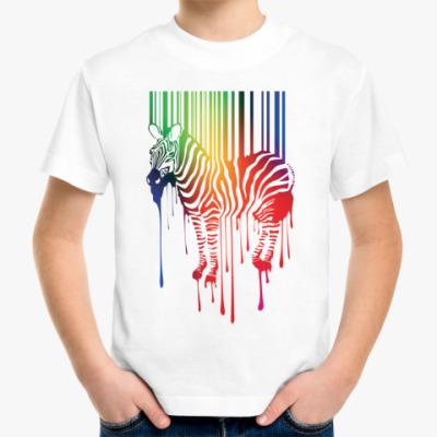 Детская футболка Цветная зебра