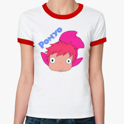 Женская футболка Ringer-T Ponyo #1  ж(б/к)