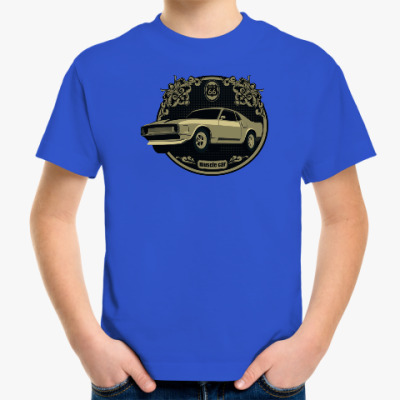Детская футболка Muscle car