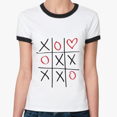 Женская футболка Ringer-T Крестики-нолики
