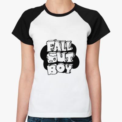 Женская футболка реглан FOB sign 2  Ж()