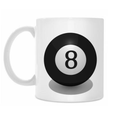 Кружка 'Бильярдный шар 8'