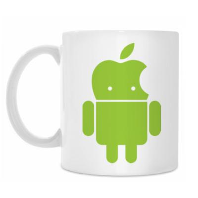 Кружка Андроид голова-яблоко