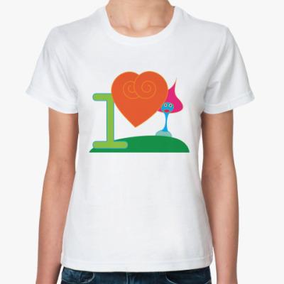 Классическая футболка I love mushroom!