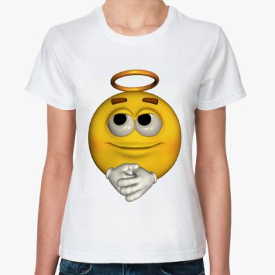 Классическая футболка  Смайл-ангел