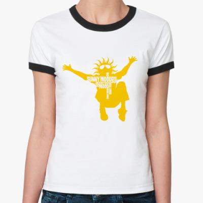 Женская футболка Ringer-T sunny mood