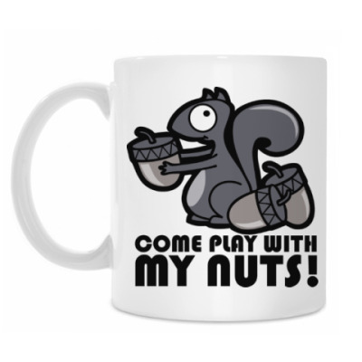 Кружка Play with my nuts