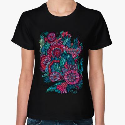 Женская футболка Цветочная сказка