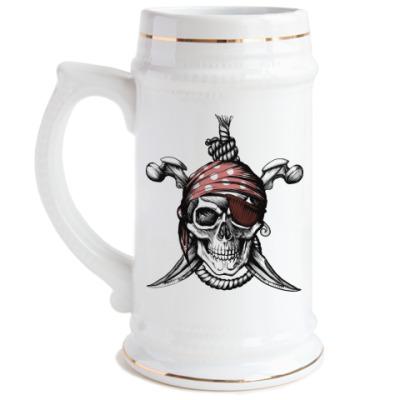 Пивная кружка Весёлый Роджер