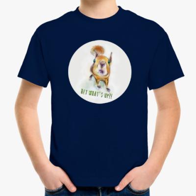 Детская футболка Любопытная белка