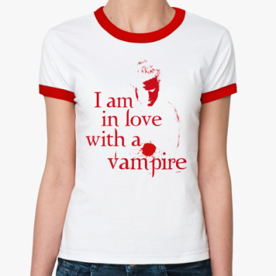 Женская футболка Ringer-T Love Vampire