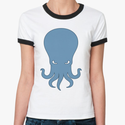 Женская футболка Ringer-T   Ктулху