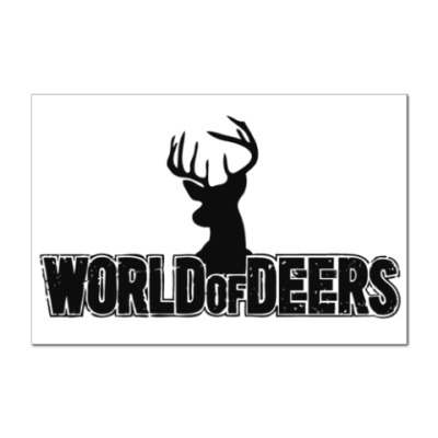 Наклейка (стикер) World of deers